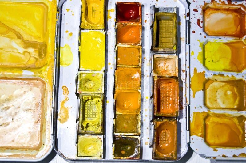 kolor paleta obrazy stock
