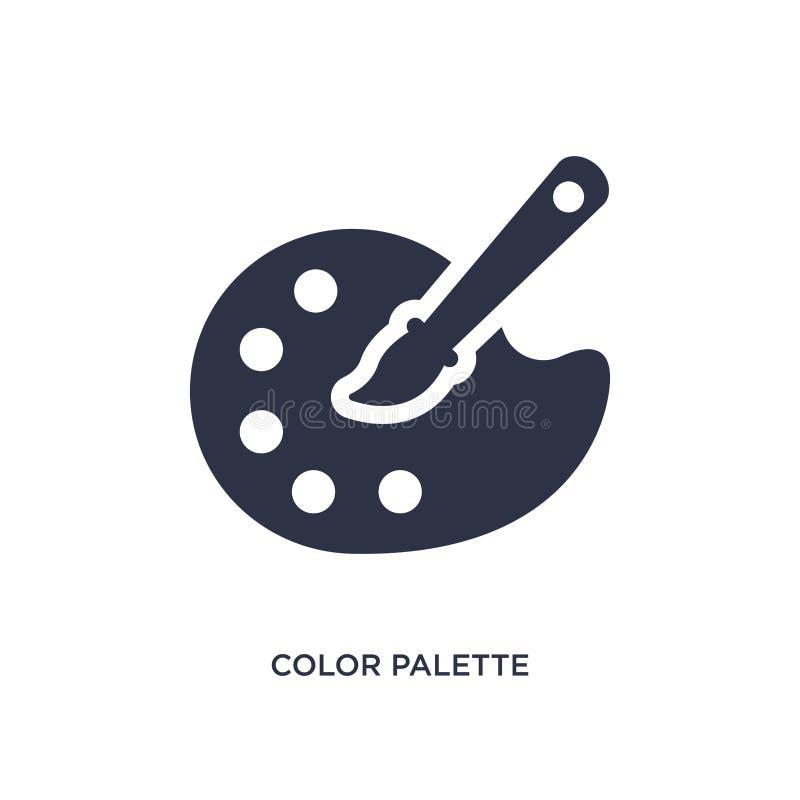 Kolor palety ikona na białym tle Prosta element ilustracja od kreatywnie pocess pojęcia ilustracji