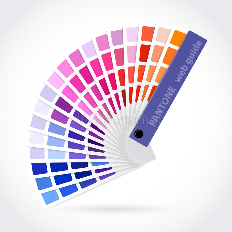 Kolor palety przewdonik royalty ilustracja