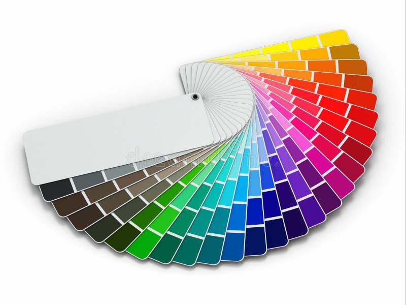 Kolor palety przewdonik na białym tle ilustracji