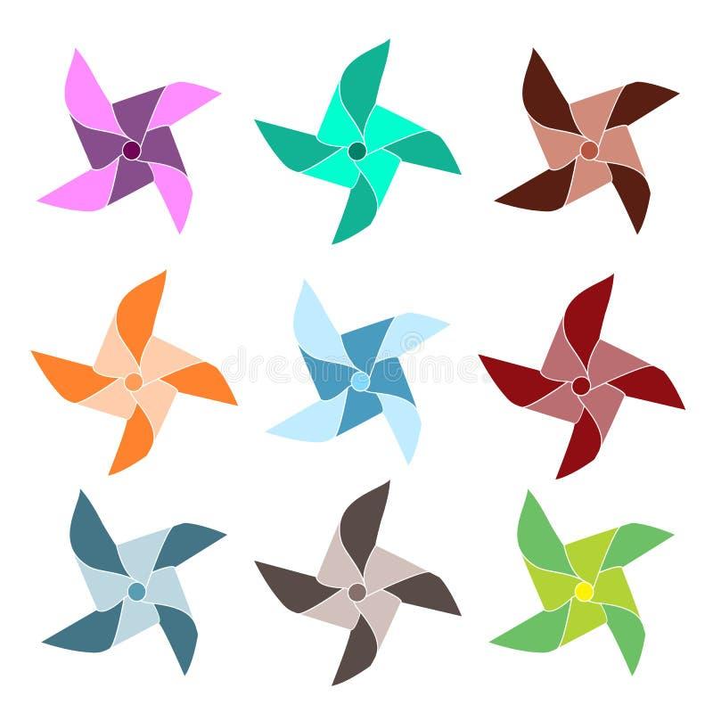 kolor pinwheels ilustracja wektor