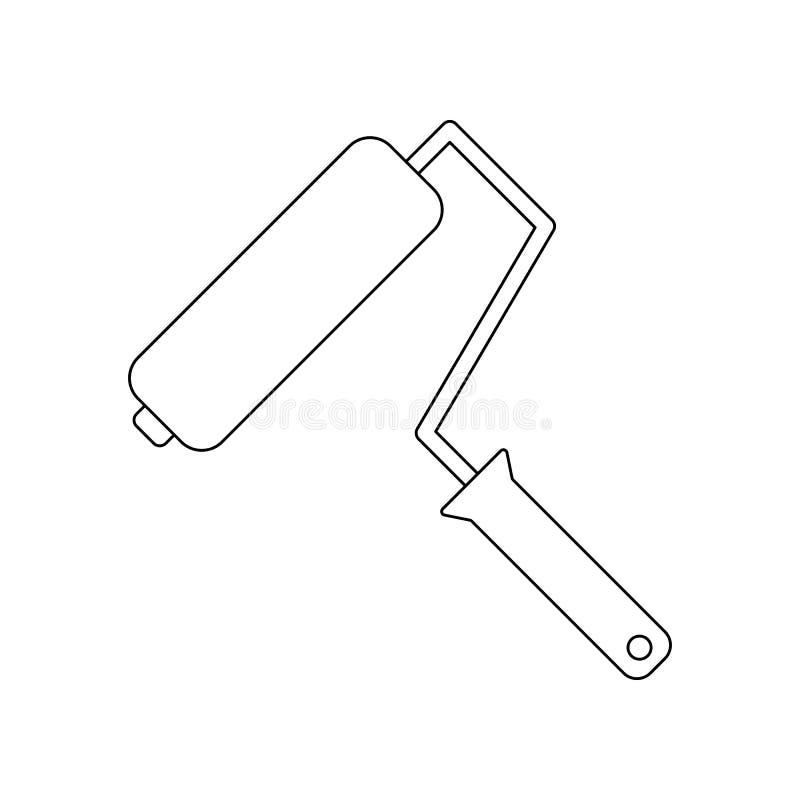 kolor poduszkowa ikona Element bud?w narz?dzia dla mobilnego poj?cia i sieci apps ikony Kontur, cienka kreskowa ikona dla strona  ilustracji