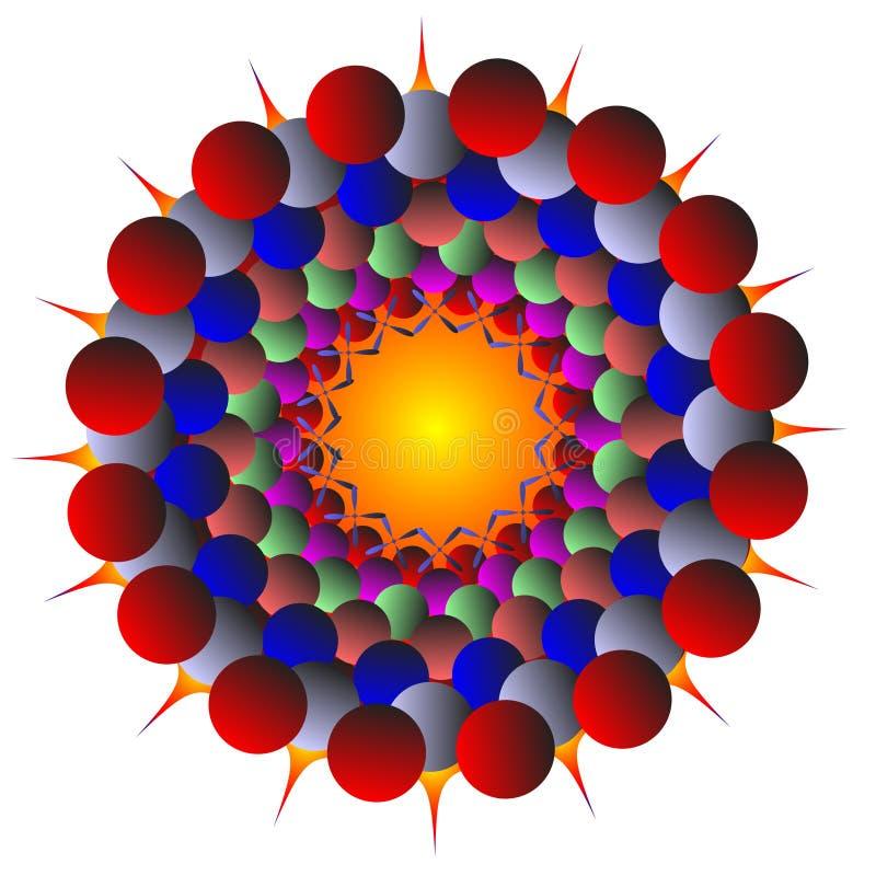 kolor różne sfery ilustracji