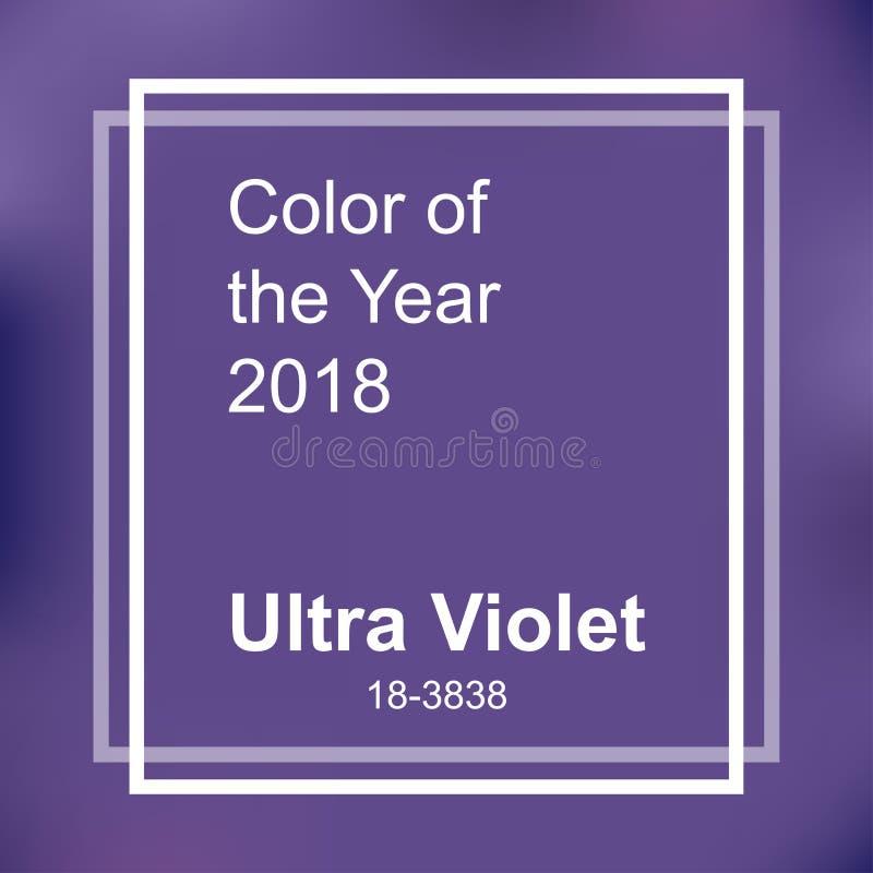 Kolor rok 2018 royalty ilustracja