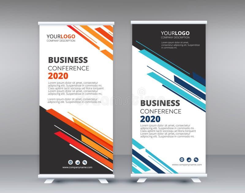 Kolor rolki sztandaru projekta szablonu nowożytny biznes ilustracja wektor