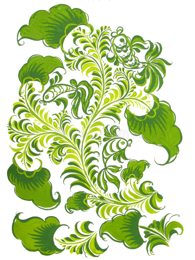 kolor ryby projektu zielone ludu rusek ilustracja wektor
