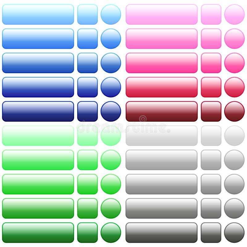 Kolor sieci puści guziki royalty ilustracja