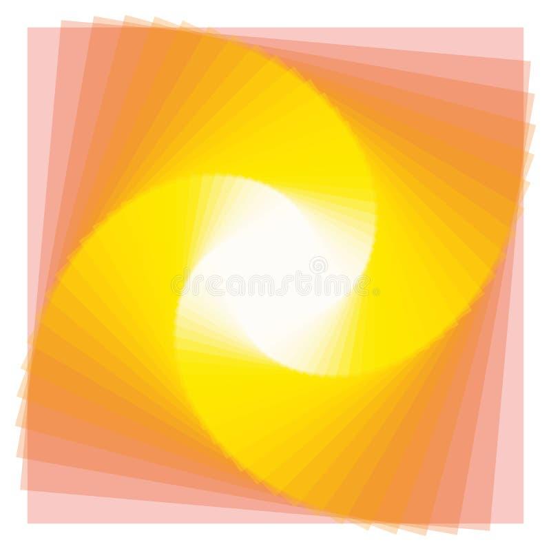 Kolor spirala kwadraty z gradientem royalty ilustracja