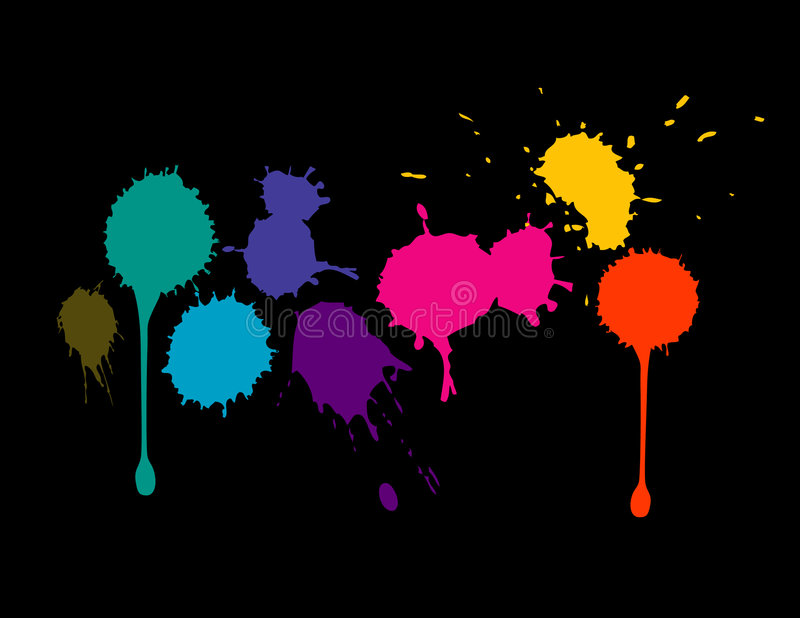 kolor splatters ilustracji