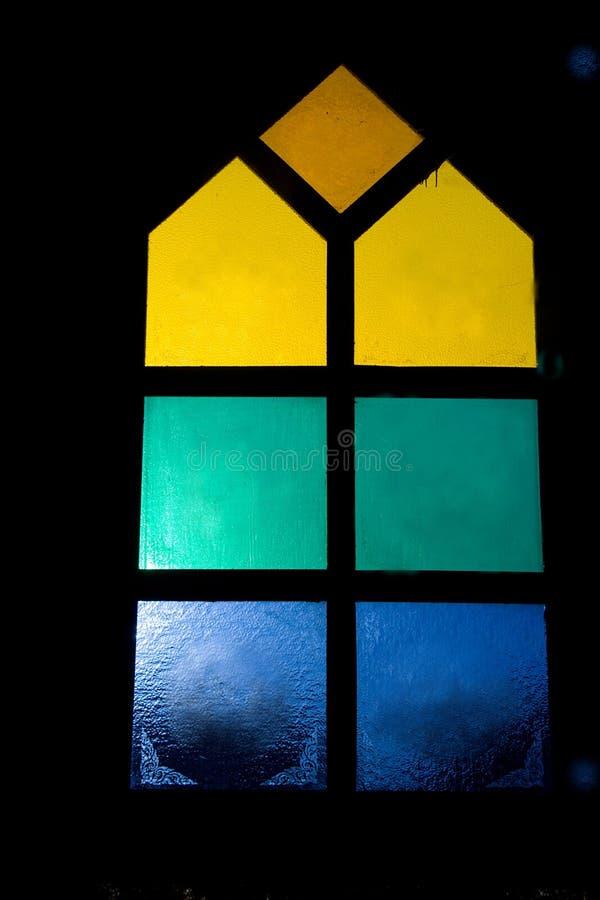 Kolor Szklane Nadokienne tafle fotografia royalty free
