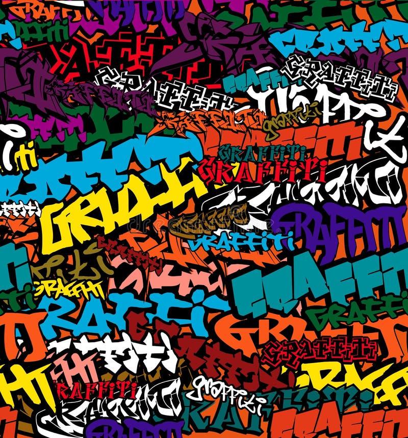 kolor tła graffiti bezszwowi ilustracja wektor