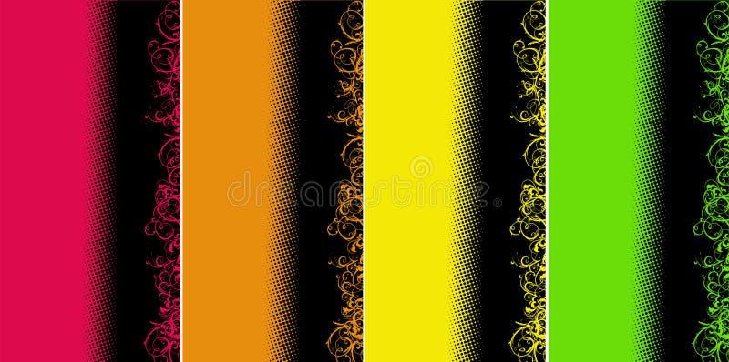 kolor tła krzyw strona ilustracja wektor
