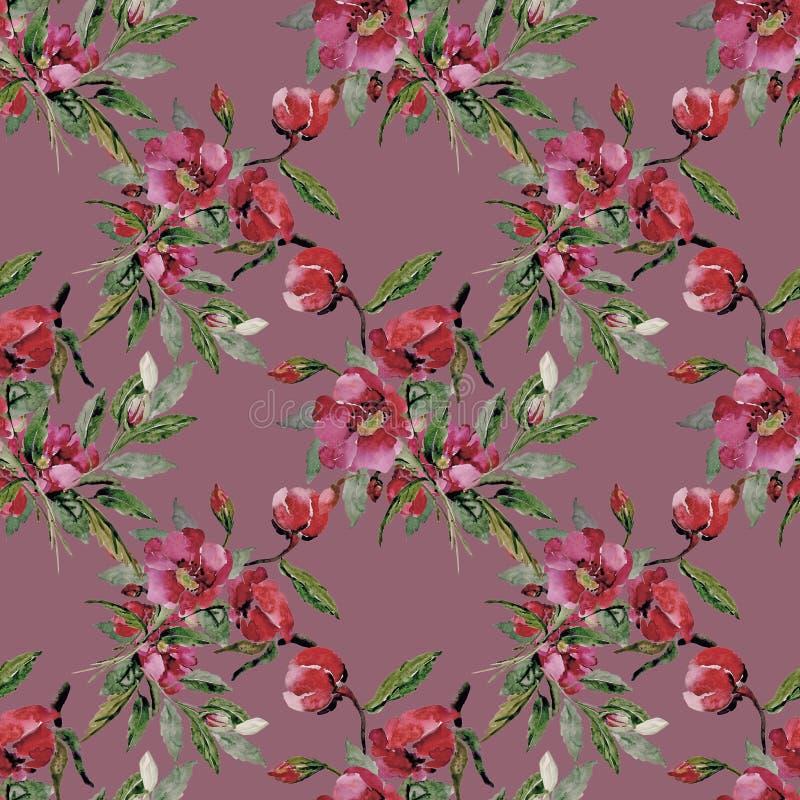 kolor t?a kwiaty Akwarela - ilustracja zdjęcie royalty free