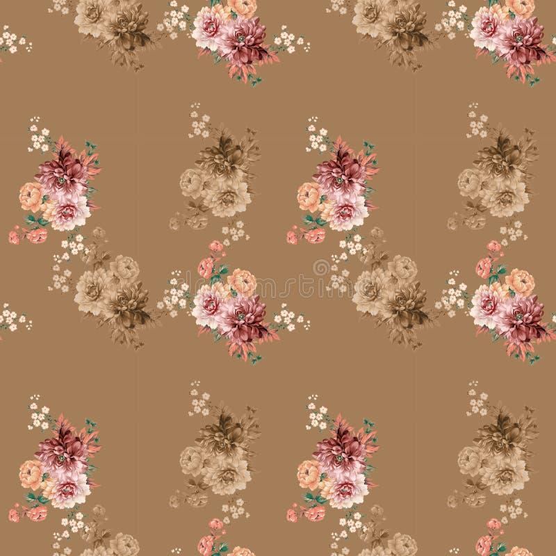 kolor t?a kwiaty Akwarela - ilustracja obrazy stock