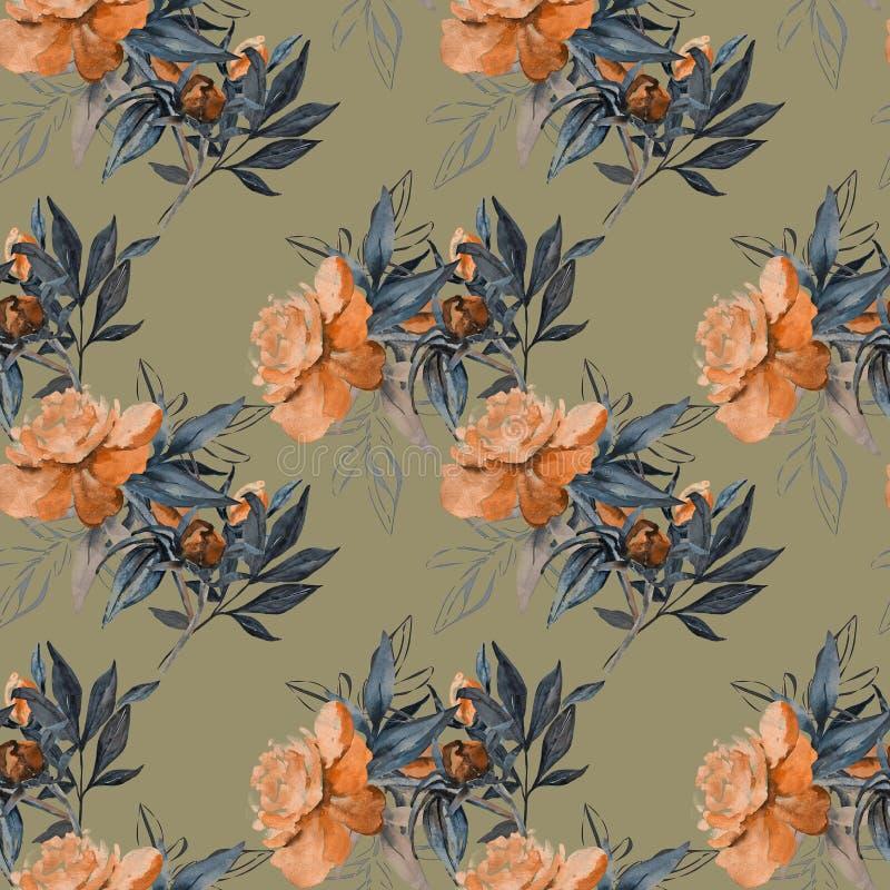 kolor t?a kwiaty Akwarela - ilustracja ilustracja wektor