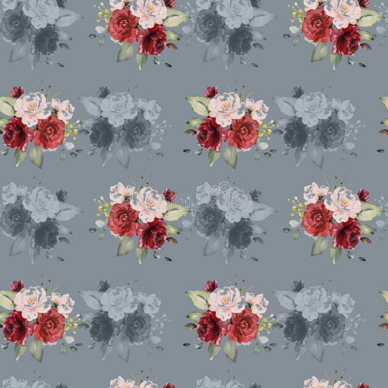 kolor t?a kwiaty Akwarela - ilustracja royalty ilustracja