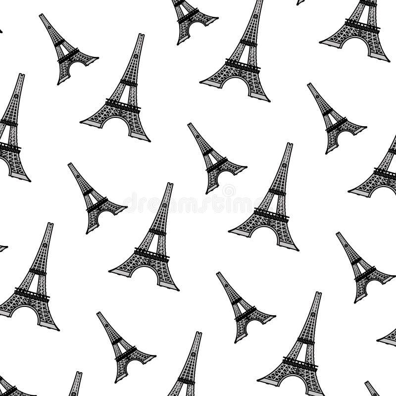 Kolor wieża eifla od Paris France tła royalty ilustracja