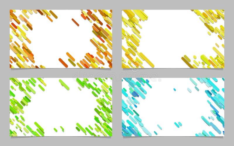 Kolor wizytówki abstrakcjonistyczny tło ustawiający z diagonalnymi lampasami ilustracja wektor