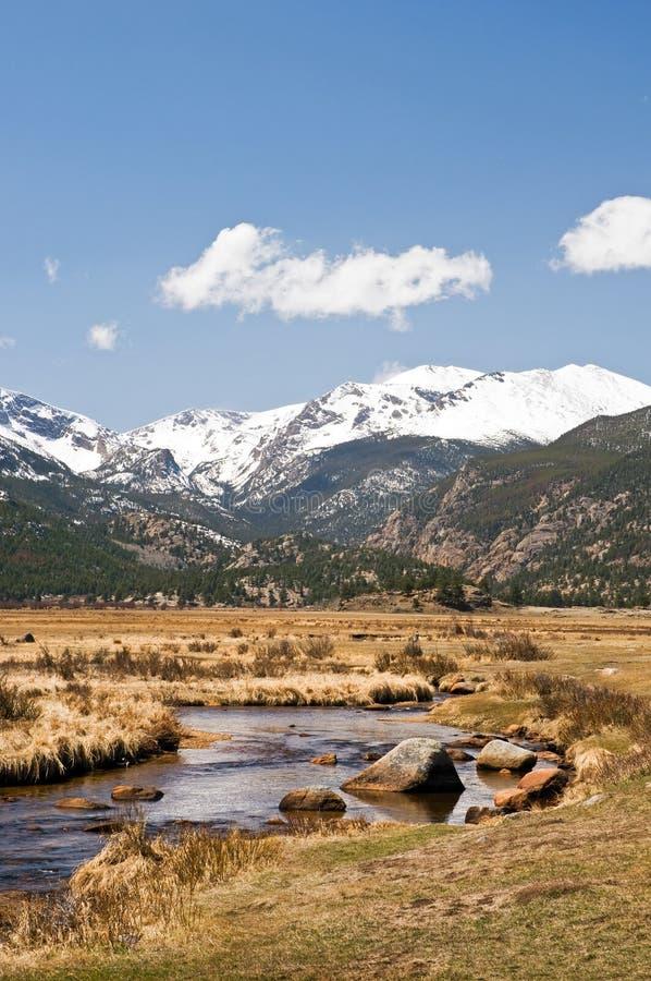 Kolorado-Berg und Strom lizenzfreie stockbilder