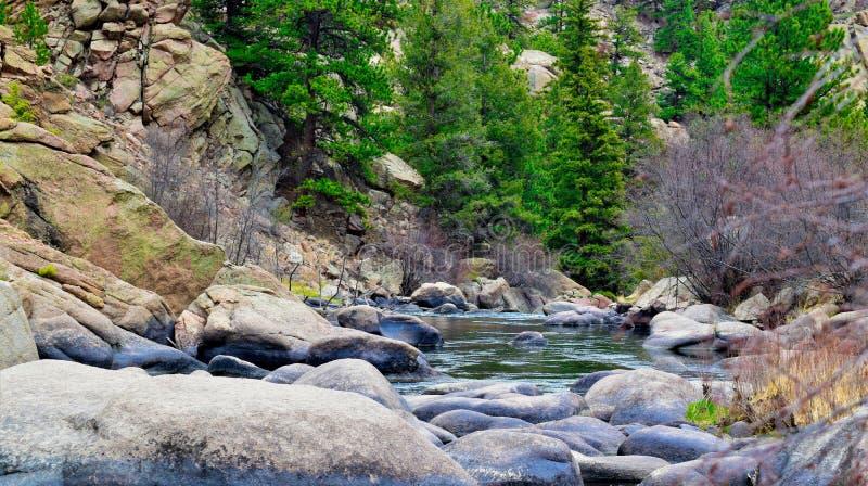 Kolorado-Berge und Strom lizenzfreies stockfoto