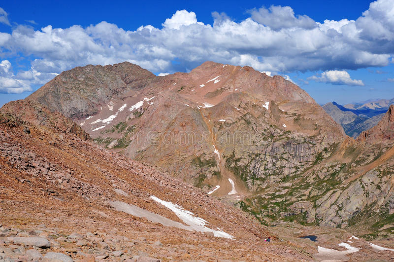 Kolorado 14er, góra Eolus, San Juan pasmo, Skaliste góry w Kolorado obrazy stock