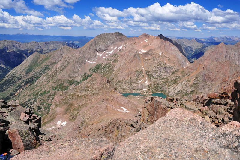 Kolorado 14er, góra Eolus, San Juan pasmo, Skaliste góry w Kolorado fotografia stock