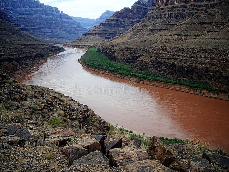Kolorado-Fluss, Grand Canyon lizenzfreies stockfoto