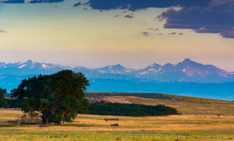 Kolorado Front Range Przy wschodem słońca obraz stock