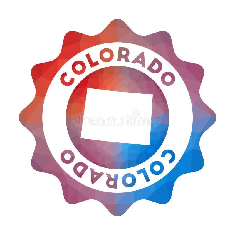 Kolorado niski poli- logo royalty ilustracja