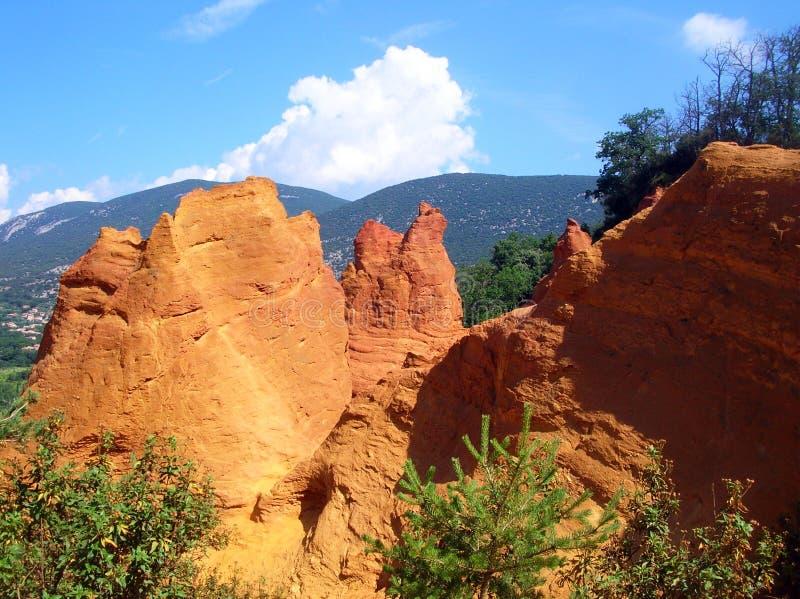 Kolorado provencal - Frankreich lizenzfreie stockbilder