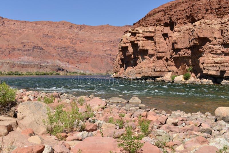 Kolorado rzeka przy Lee promem zdjęcia stock