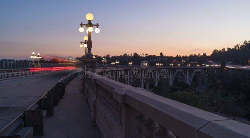 Kolorado ulicy most w Pasadena obraz royalty free