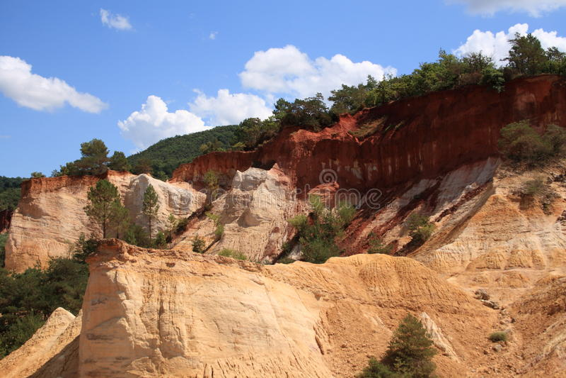 Kolorado von Rustrel - Provence lizenzfreie stockfotos