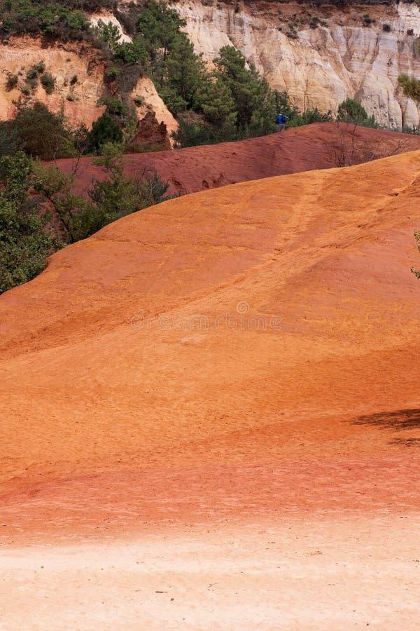 Kolorado von Rustrel - Provence stockfotografie