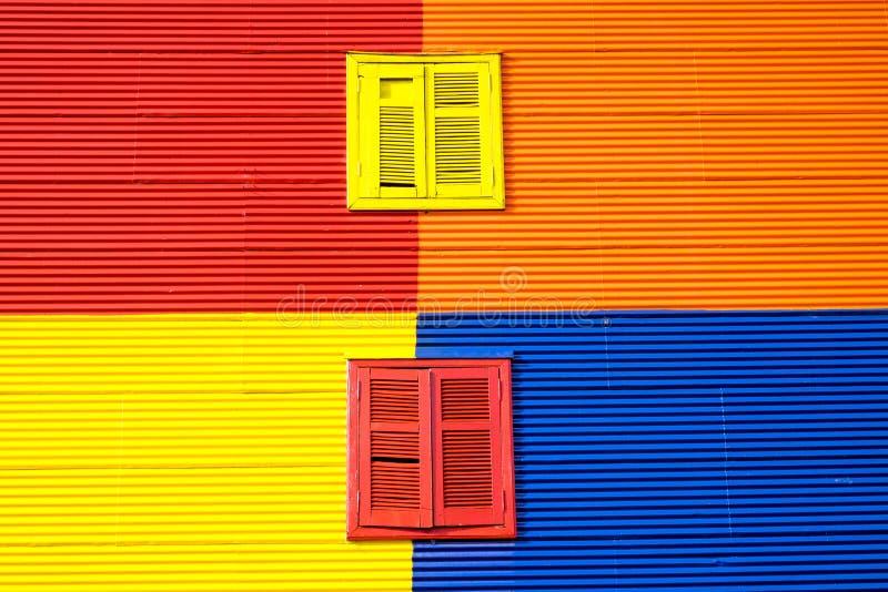 Kolorowa ściana w losie angeles Boca, Buenos Aires obrazy stock