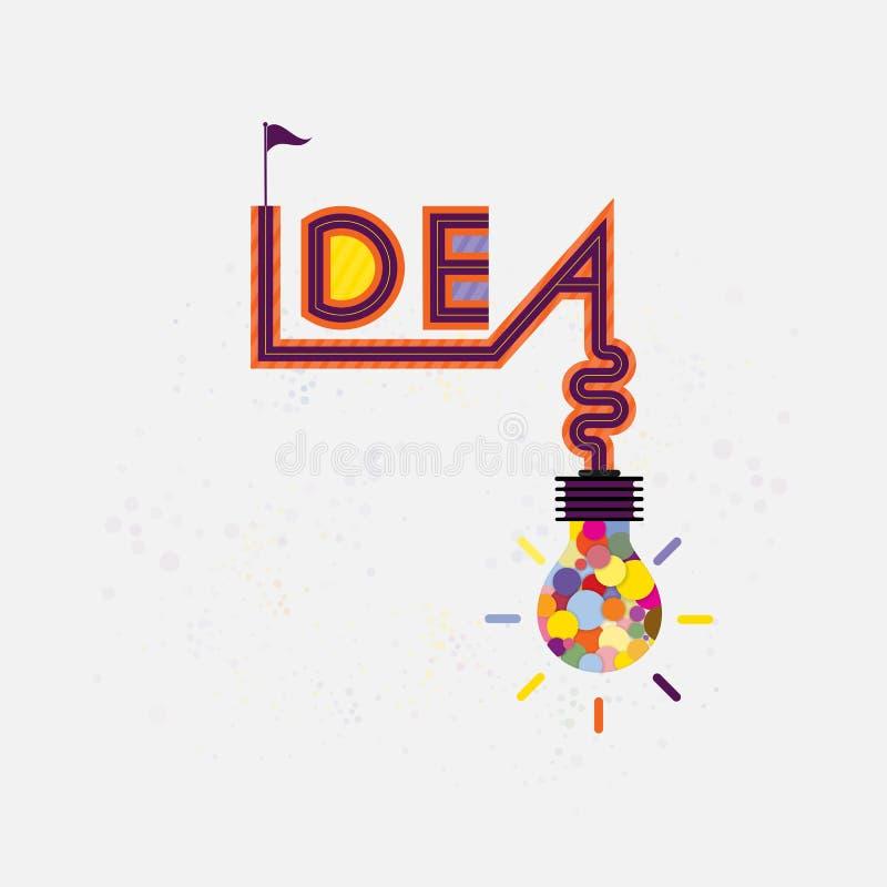Kolorowa żarówki ikona i twórczość pomysł znak nowożytny ilustracja wektor