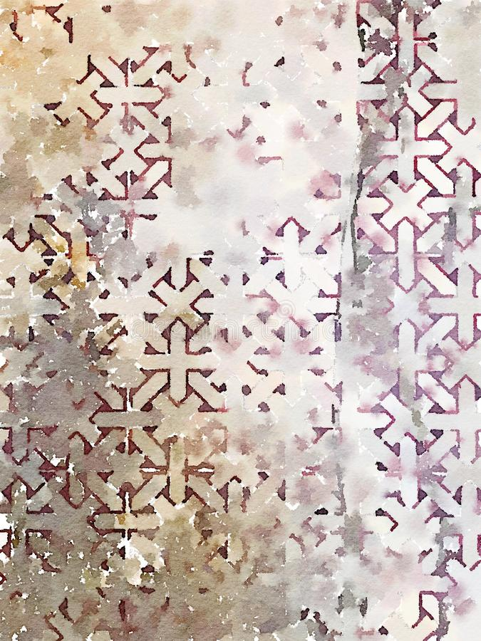 Kolorowa abstrakcjonistyczna geometrical minimalistyczna akwareli ściany sztuka ilustracja wektor