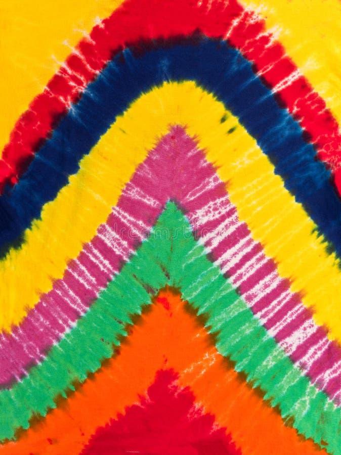 Kolorowa Abstrakcjonistyczna krawata barwidła wzoru projekta pomarańcze, błękit, kolor żółty, rewolucjonistka fotografia stock