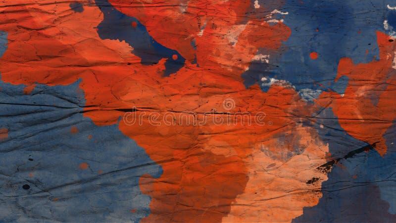 Kolorowa abstrakcjonistyczna plamy akwarela Wysoka rozdzielczość wizerunek, kolory mokrzy na suchym papierowym backgrundo fotografia royalty free