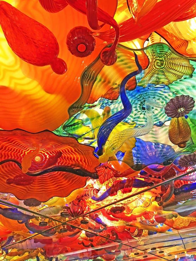 Kolorowa Abstrakcjonistyczna Szklana sztuki tła tekstura fotografia stock