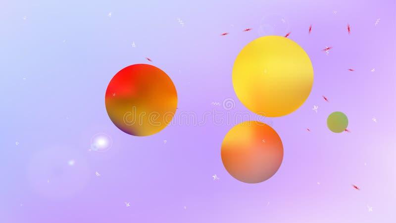 Kolorowa abstrakt przestrzeni t?a obrazka plama royalty ilustracja