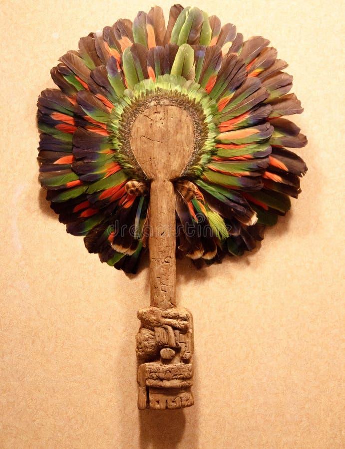 Kolorowa aztec maska w muzeum narodowym antropologia, Meksyk obraz stock