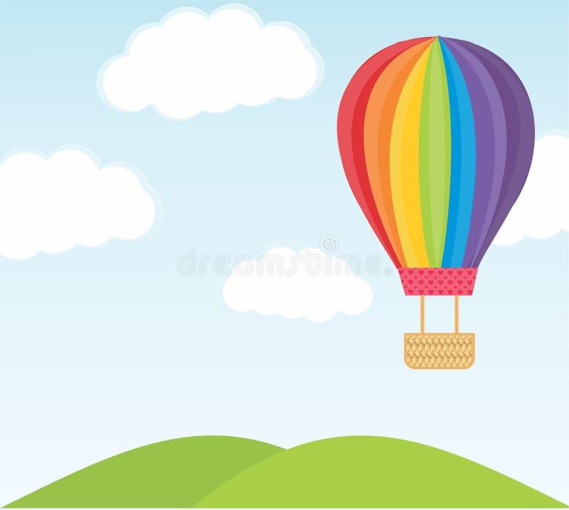 Kolorowa balonowa ilustracja zdjęcie royalty free