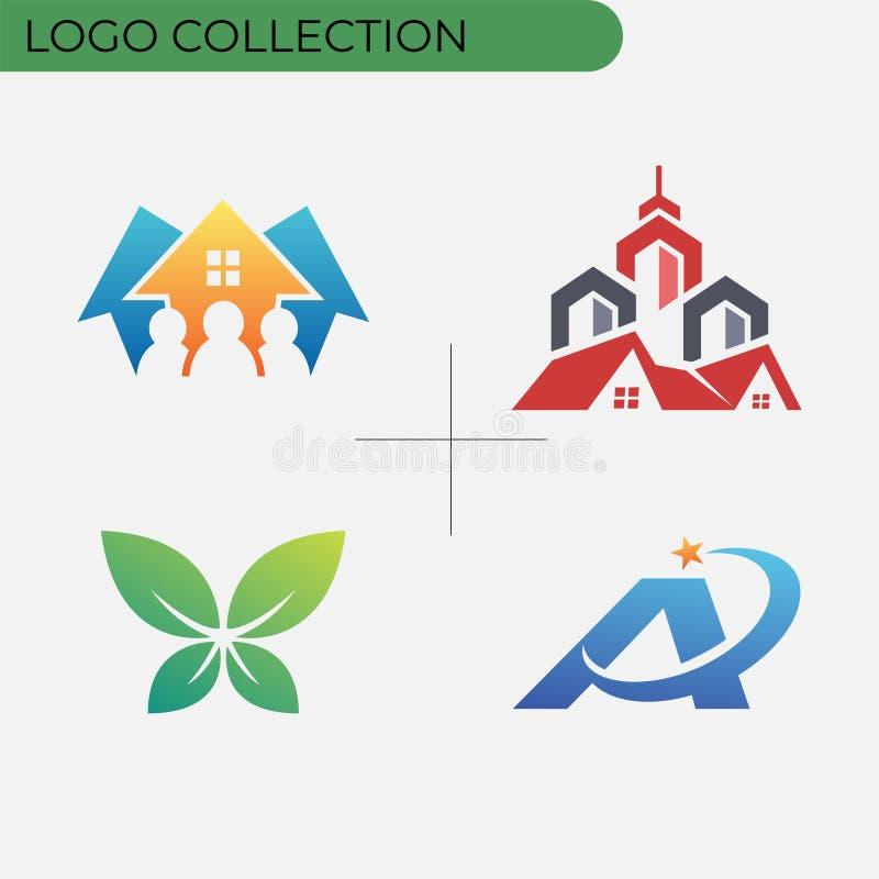 Kolorowa biznesowa logo kolekcja royalty ilustracja