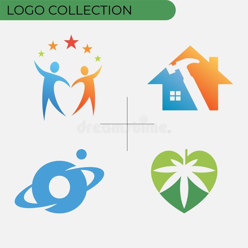 Kolorowa biznesowa logo kolekcja ilustracji
