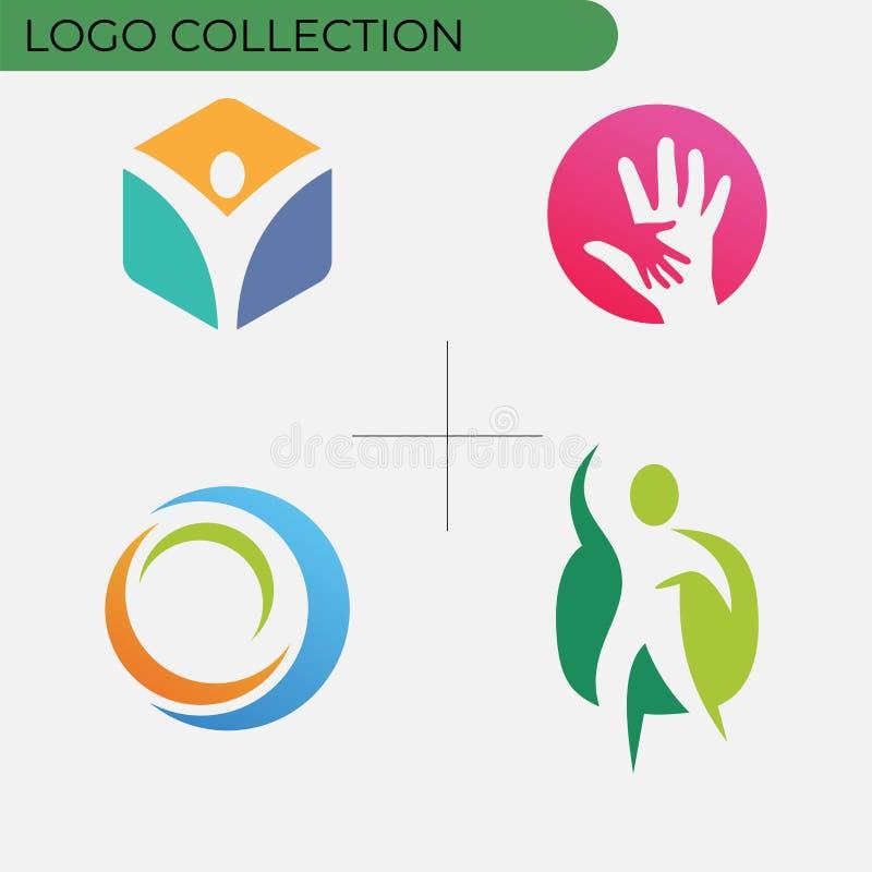 Kolorowa biznesowa logo kolekcja ilustracja wektor