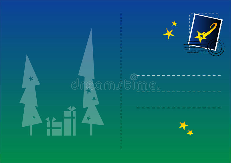 kolorowa Boże Narodzenie pocztówka ilustracji