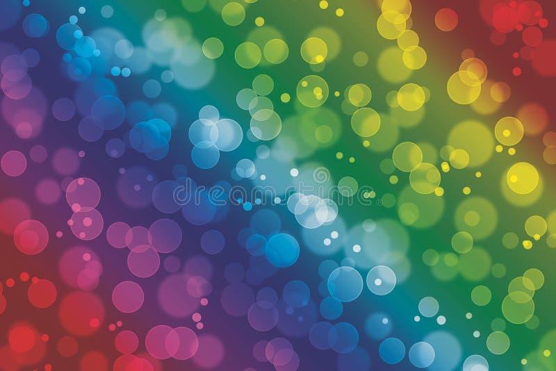 Kolorowa bokeh skutka drobnych druków tła tapeta ilustracji