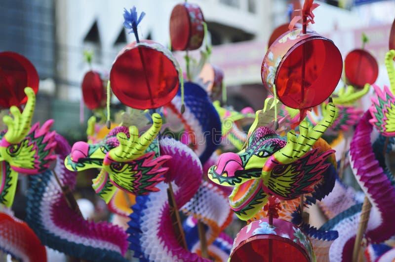 Kolorowa chińska smok zabawka fotografia stock