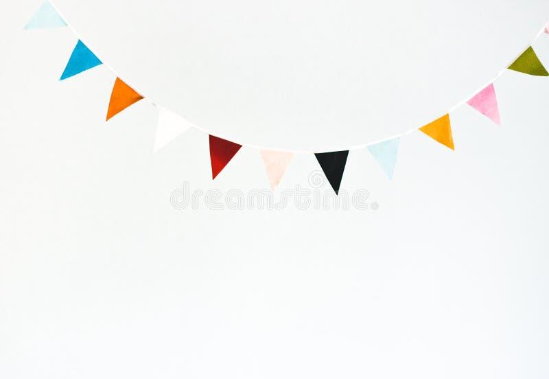 Kolorowa chorągwiana girlanda obrazy stock